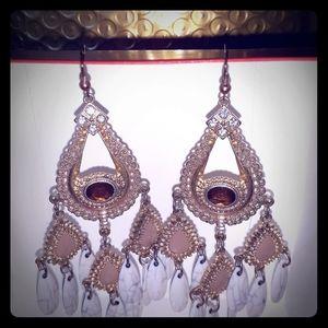 Guess brand chandelier earrings gold tone